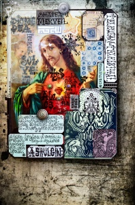 Collage with sacred images