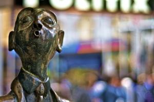 Swanston Street brass statues