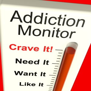 Addiction Monitor Shows Craving And Substance Abuse