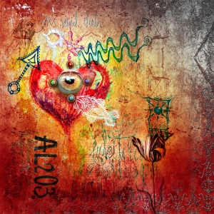 Graffiti with red heart