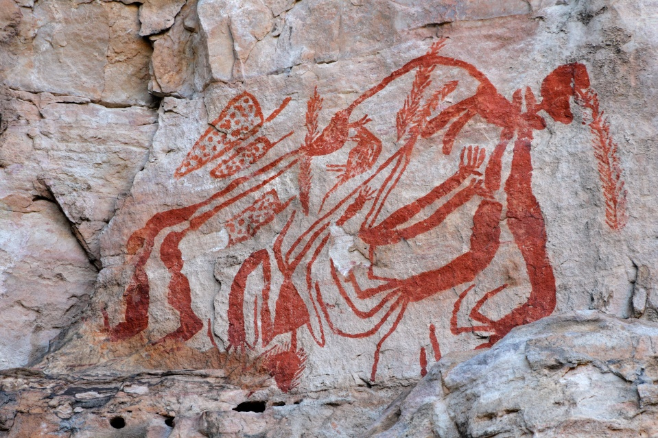 Aboriginal rock art at Ubirr, Kakadu N/P, Australia