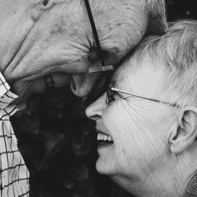 elderly couple joy